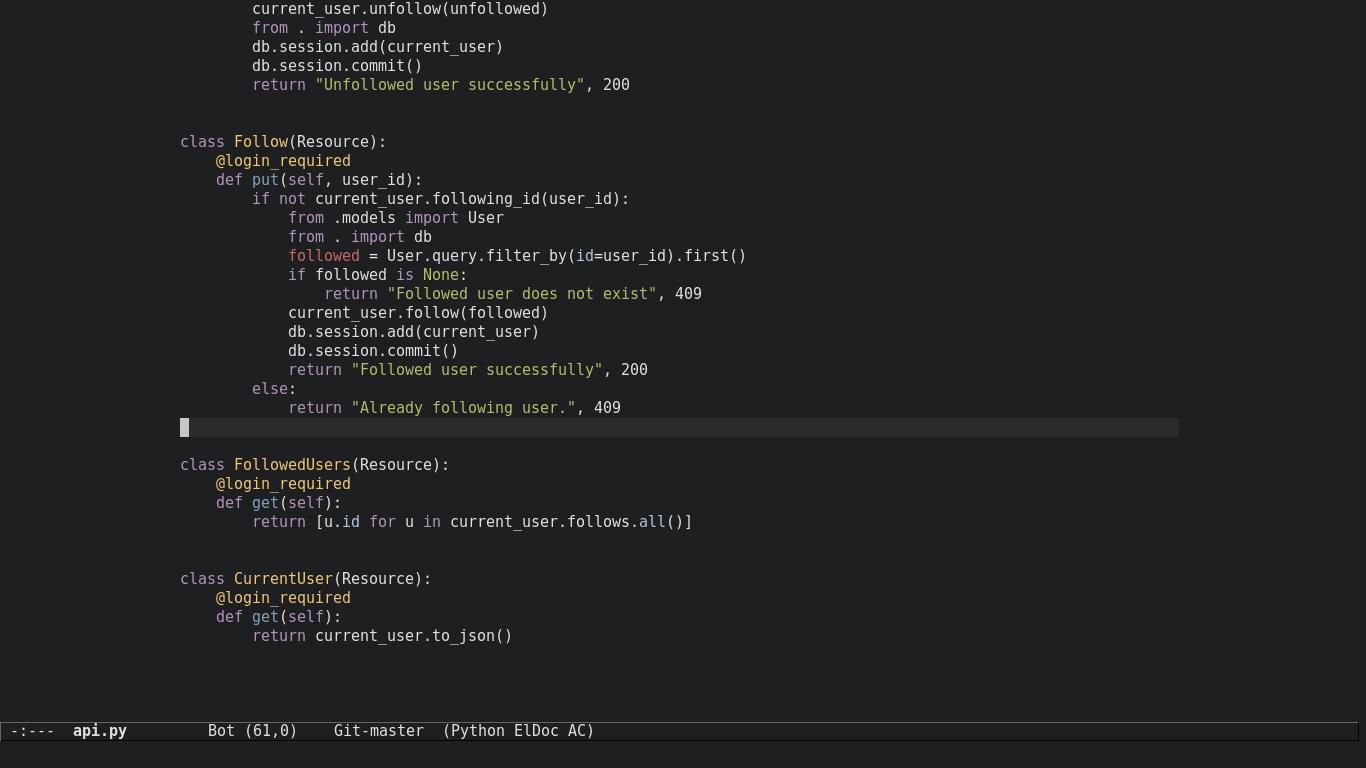 Emacs python